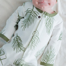 Load image into Gallery viewer, L'ovedbaby Zipper Organic Footie - Sage Palm