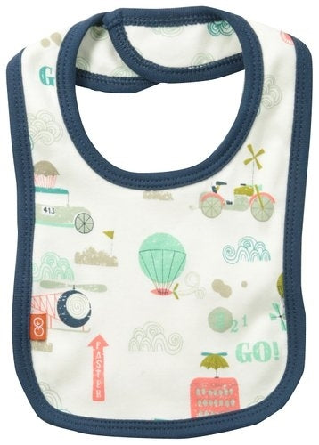 Magnificent Baby Reversible Bib - Transport