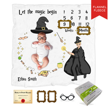 Load image into Gallery viewer, Endanzoo Baby Monthly Milestone Fleece Blanket - Magician