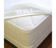 "Load image into Gallery viewer, Naturepedic Waterproof Mattress Protector Pad - FULL Fitted (53"" x 75"" x 17"")"