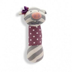 Organic Farm Buddies Squeaky Toy Stick - Penny the Pig
