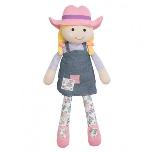 Organic Farm Buddies Farm Girl Organic Cotton Plush Toy - Susie Sunshine 15""