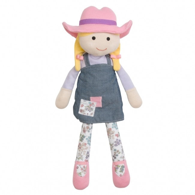 Organic Farm Buddies Farm Girl Organic Cotton Plush Toy - Susie Sunshine 15