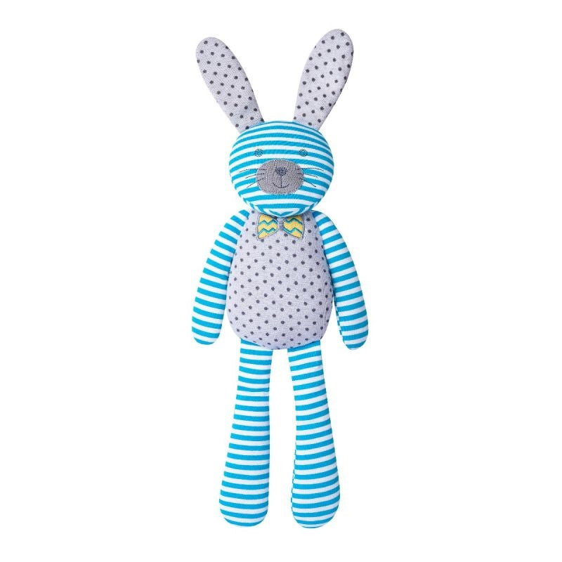 Organic Farm Buddies Organic Plush Toy - Farm Bunny Blue 18