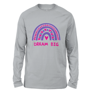 Rainbow Dream Big Girl Organic Kids Tee Shirt