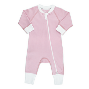 Endanzoo Organic Double Zippered Romper - Pink