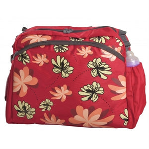 Simply Good Ultra Diaper Bag - Water Lilies (Red)