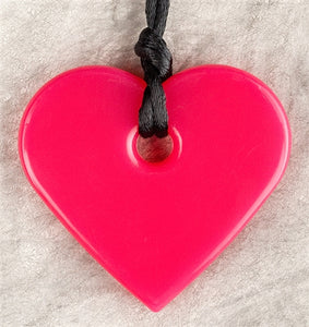 Teething Bling Pendant - Red Heart