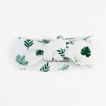 Load image into Gallery viewer, Endanzoo Organic Cotton Baby Headband - Tropical Leaves