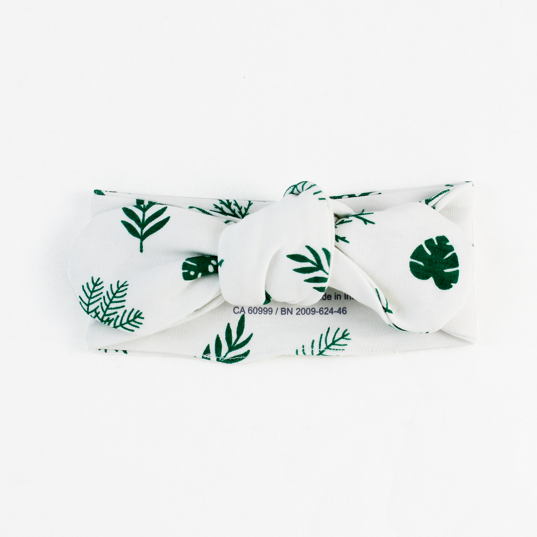 Endanzoo Organic Cotton Baby Headband - Tropical Leaves