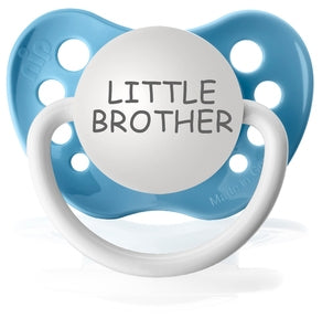 Ulubulu Silicone Pacifier - Little Brother Blue