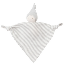 Load image into Gallery viewer, Under The Nile Organic Sleeping Doll with Knot - Tan Stripe