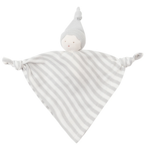 Under The Nile Organic Sleeping Doll with Knot - Tan Stripe