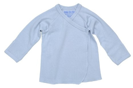 Under The Nile Organic Long Sleeve Side Snap Undershirt (Blue)