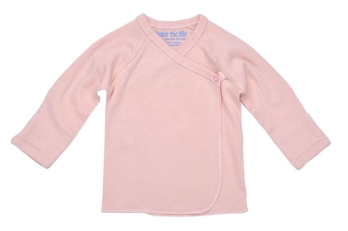 Under The Nile Organic Long Sleeve Side Snap Undershirt (Pink)