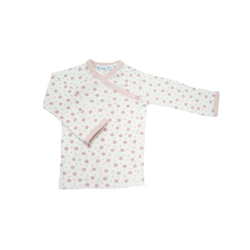 Under The Nile Organic Long Sleeve Side Snap T-Shirt (Pink Dots)