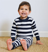 Load image into Gallery viewer, Under The Nile Organic Kids Pajamas - Navy Stripe