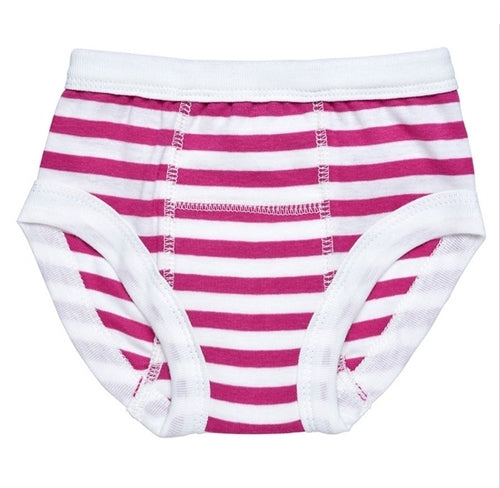 Under The Nile Organic Cotton Training Pant - Fuchsia White Stripe