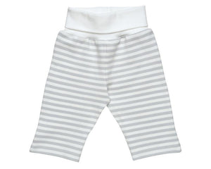 Under The Nile - Organic Rolled Waist Pant (Grey Stripe)