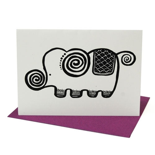 Wee Gallery Blank Elephant Greeting Cards with Envelope
