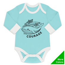 Load image into Gallery viewer, Endanzoo Organic Long Sleeve Onesie - Whale Courage