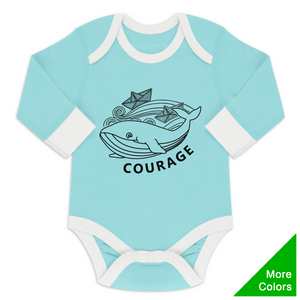 Endanzoo Organic Long Sleeve Onesie - Whale Courage