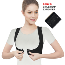 Load image into Gallery viewer, Lady Jeneva Women Posture Corrector X-Strap Shapewear - Black