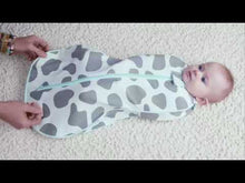 Load and play video in Gallery viewer, Woombie Grow with Me 5 Air convertible Swaddle - Polka Dot Party