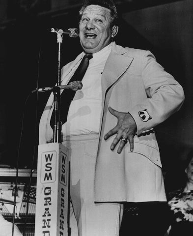Jerry Clower doing standup comedy at the Grand Ole Opry in 1974
