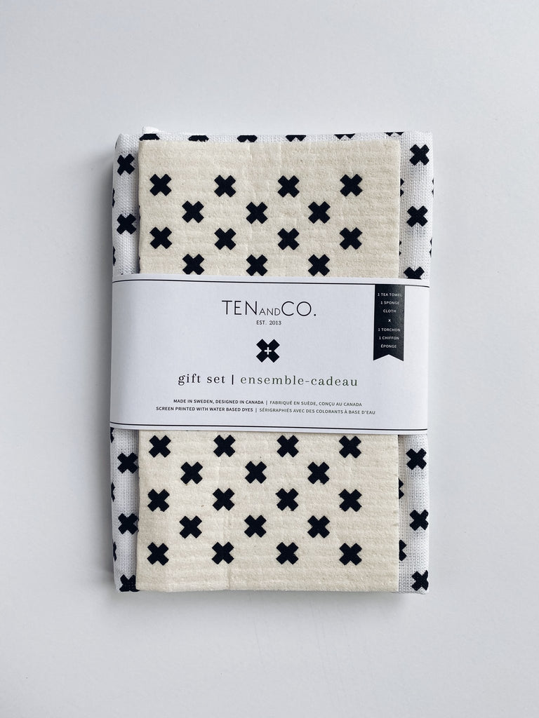 Ten and Co - Tiny X Black on White Gift Set