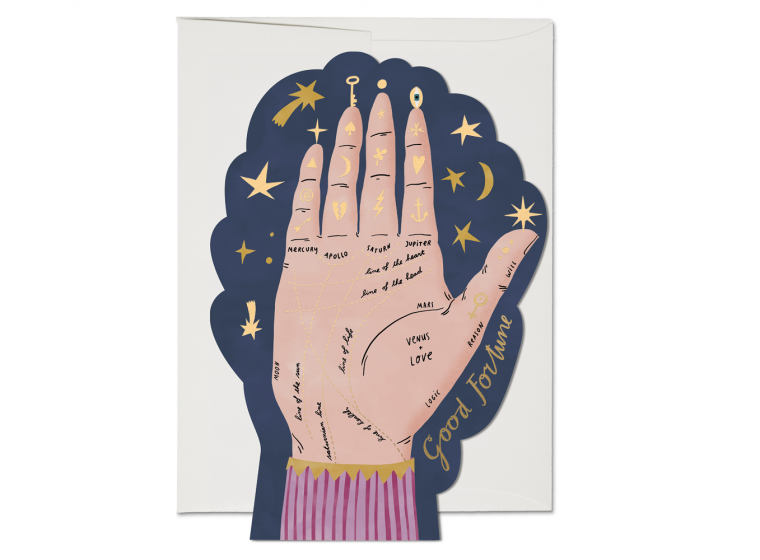 Red Cap Cards - Palm Reading Encouragement Card