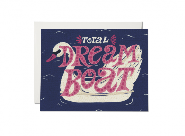 Red Cap Cards - Swan Dreamboat Card