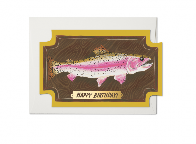 Red Cap Cards - Mounted Fish Birthday Card