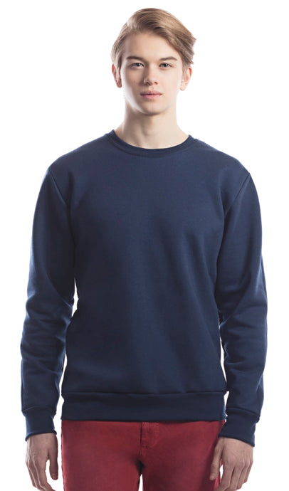 North Bay Unisex ADULT Crewneck Sweater (Monochrome Navy)