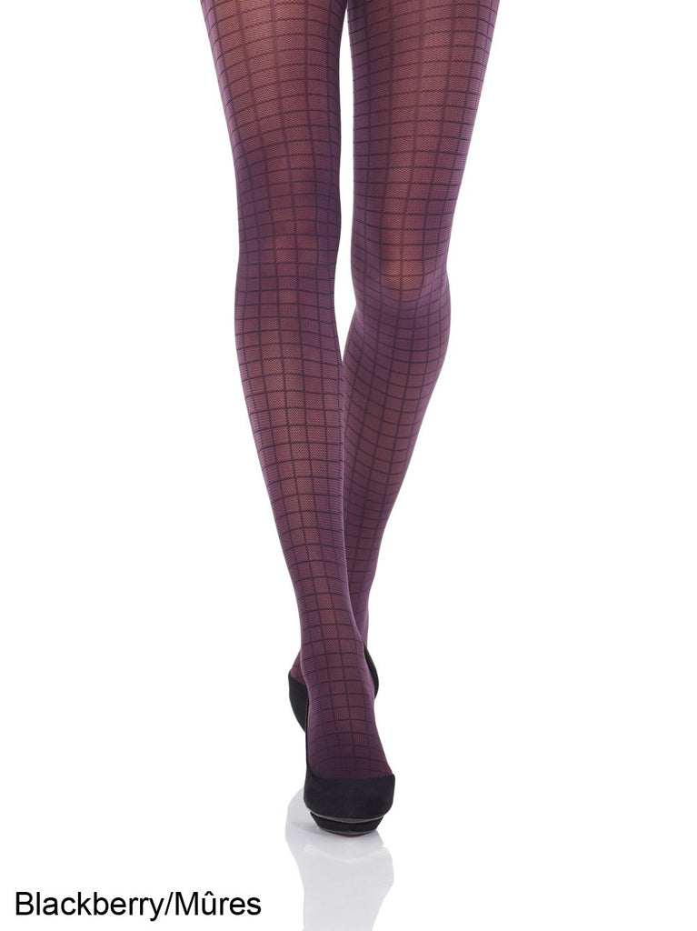 Mondor - Blackberry Checkered Tights