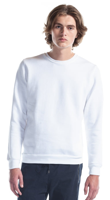 North Bay Unisex ADULT Crewneck Sweater (Monochrome White)