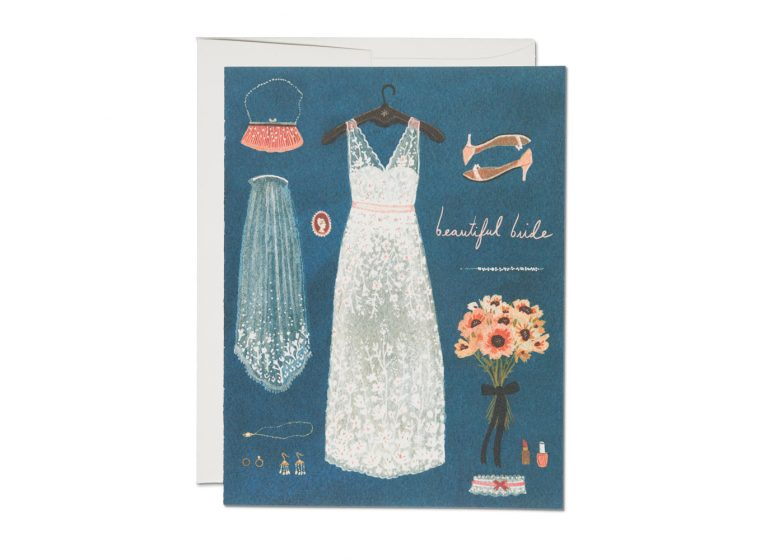 Red Cap Cards - Beautiful Bride Wedding Card
