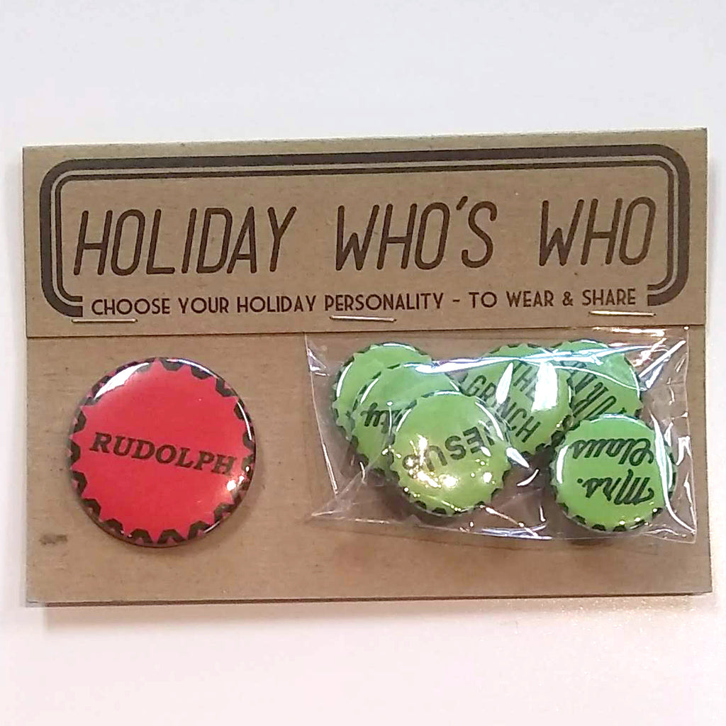 Regional Assembly of Text - Holiday Who's Who Button Set