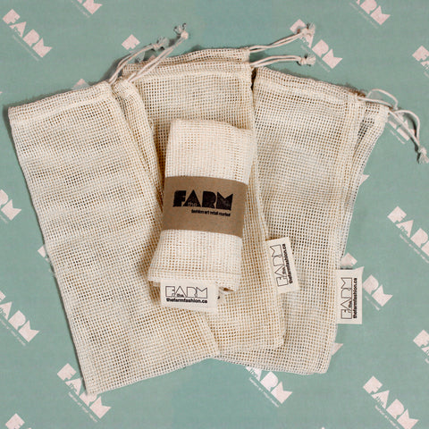 The FARM - Cotton Mesh Produce Bags - Pack of Three