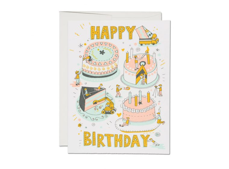 Red Cap Cards - Building Birthday Card