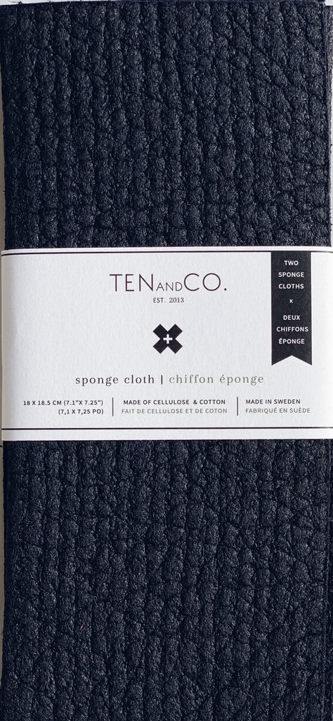 Ten and Co - Midnight Sponge Cloth (2 Pack)