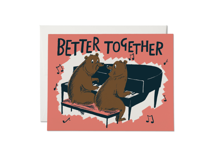 Red Cap Cards - Better Together Bears Card