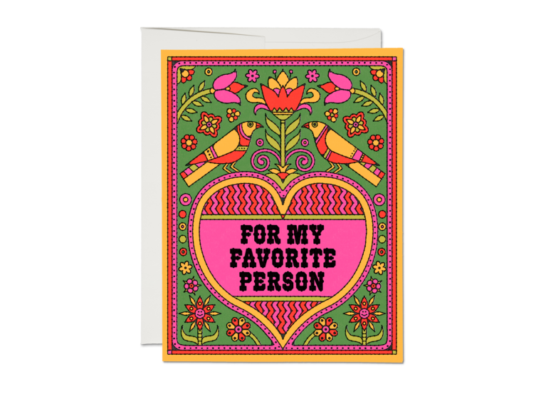 Red Cap Cards - Favourite Person Card