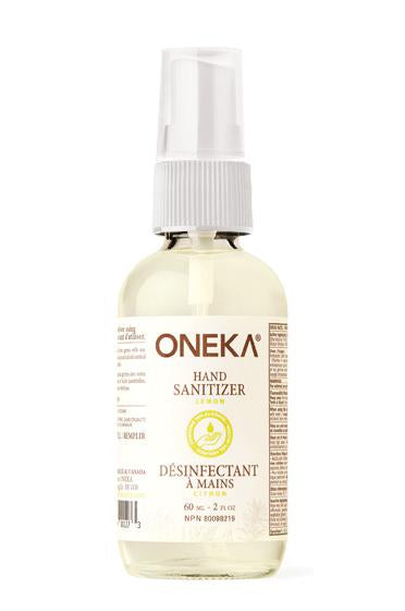 Oneka - Glass Lemon Hand Sanitizer (60ml)