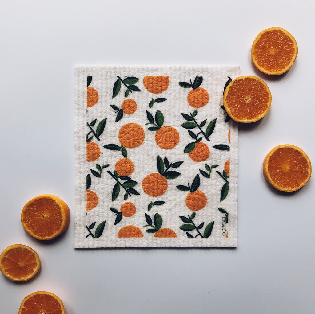 Ten and Co - Citrus Orange Sponge Cloth