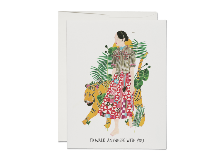 Red Cap Cards - I'd Walk Anywhere With You Love Card