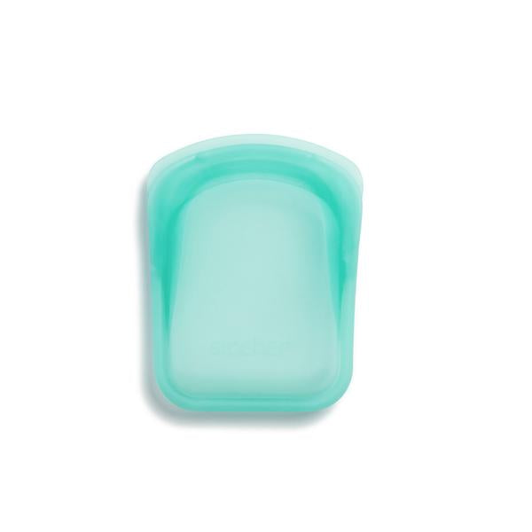Stasher - Reusable Silicone 2 Pack Pocket Bag (Aqua + Clear)