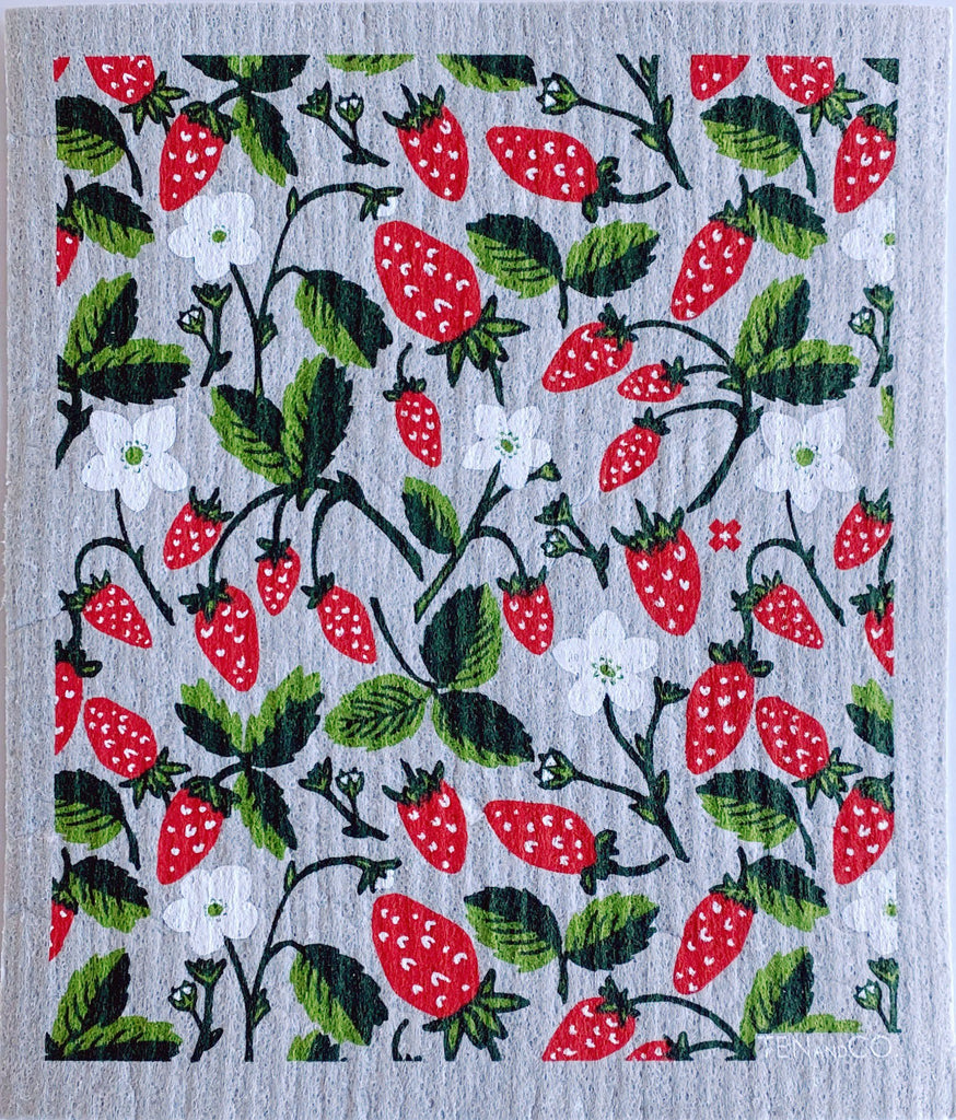 Ten and Co - Strawberry Sponge Cloth