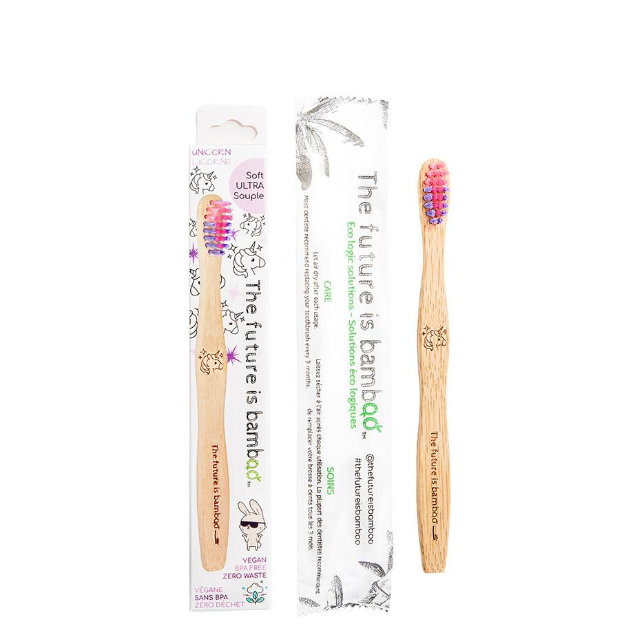 The Future Is Bamboo - Kids Unicorn Toothbrush