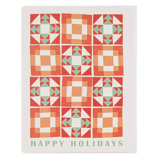 The Regional Assembly of Text - Happy Holidays Quilt Card